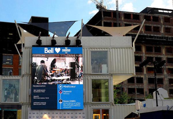 Outdoor Screen Bell Advertising City Street