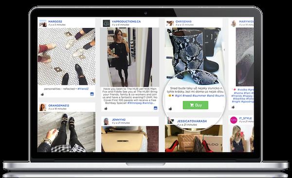 Online Laptop Screen Social Wall Post
