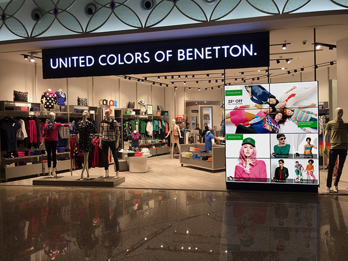 Advertising questology for Benetton usa online shop