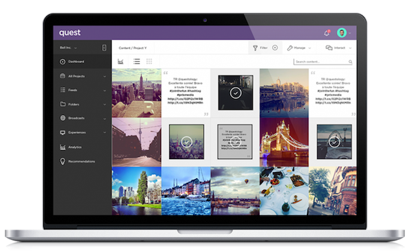 Quest Platform Laptop Screen Posts