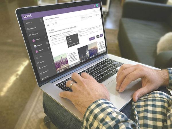 Quest platform laptop screen