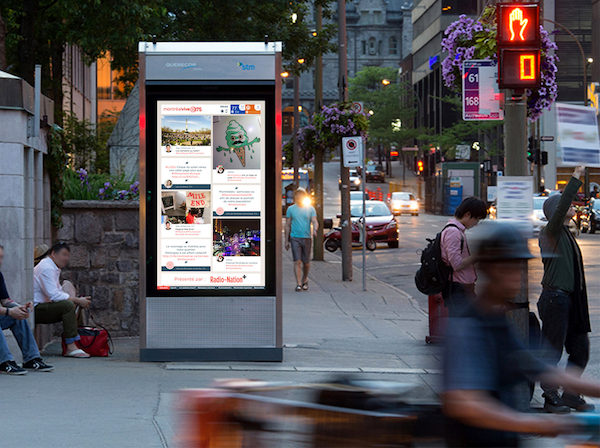 Street Bus Stop Screen