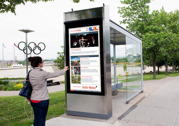 Street Bus Stop Screen