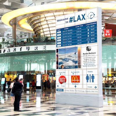 Transporation Airport Screen LAX