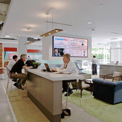 Corporate Bank Office Screen