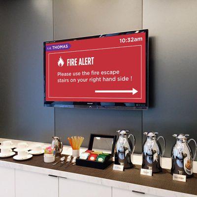 Corporate Office Screen Emergency
